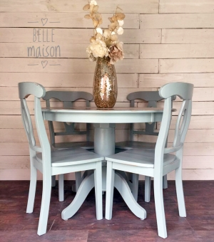 Persian Blue Java Gel Stained Dining Set