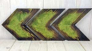 Green Dye Stained Arrows Got Wood
