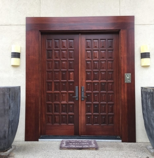 Front Doors Stunning Makeover with Exterior 450 Products. \  & Exterior 450 Water Based Wood Stain   General Finishes