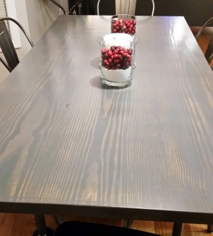 Gray Gel Stained Table