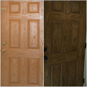 Fiberglass Door in Antique Walnut Gel Stain & Oil Based Gel Stains | General Finishes