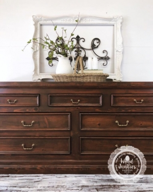 Knotty Pine Dresser In Custom Gel Stain Color