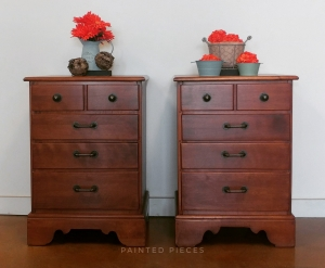 Matching Dressers Decked In Brown Mahogany Gel Stain