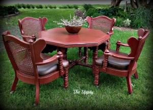 Tuscan Red Dining Set