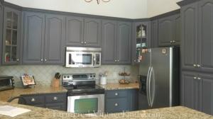 Queenstown Gray Milk Paint Kitchen Cabinets