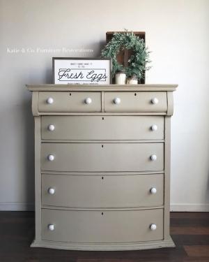 Dresser In Millstone Milk Paint