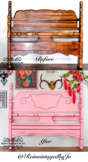 Custom Pink Bed Frame