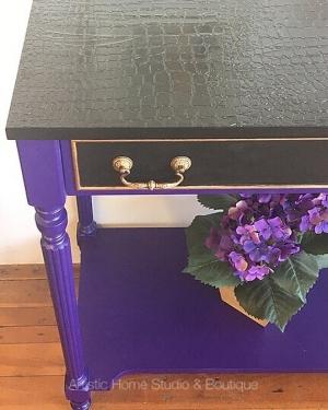 Side Table In Glorious Royal Purple Lamp Black Milk Paint