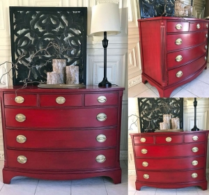Holiday Red Dresser