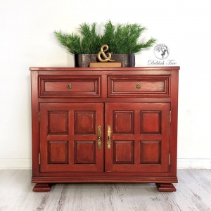 Tuscan Red Cabinet