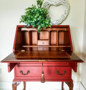 Red Bureau In Tuscan Red Milk Paint