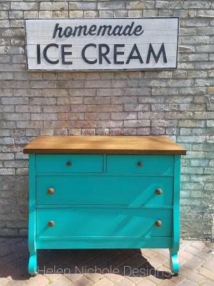 Patina Green Dresser