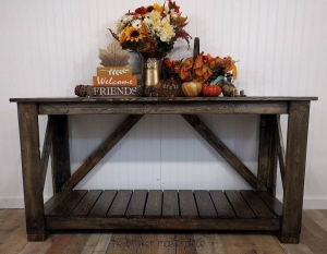 Walnut Water Based Stain Console Table