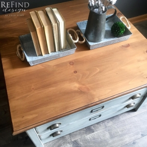 Antique Oak Water Based Stained Dresser Top