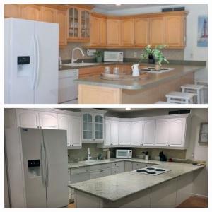 Snow White Kitchen Transformation.