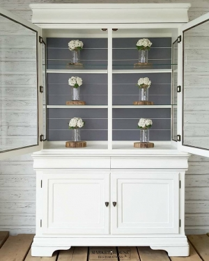 Modern Farmhouse Restyle In White Gray Milk Paint