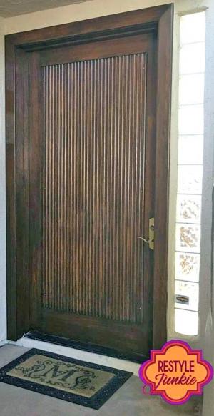Antique Walnut Front Door