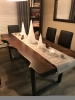 Douglas Fir Table, Live Edge, Java Stain,